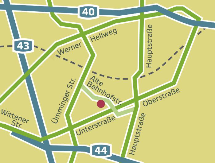 Karte des Standorts der Praxis Sprechzeit für Logopädie und Sprachtherapie in Bochum Langendreer
