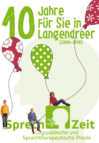 Vorschau der Jubiläumspostkarte der Praxis SprechZeit für Logopädie und Sprachtherapie Bochum
